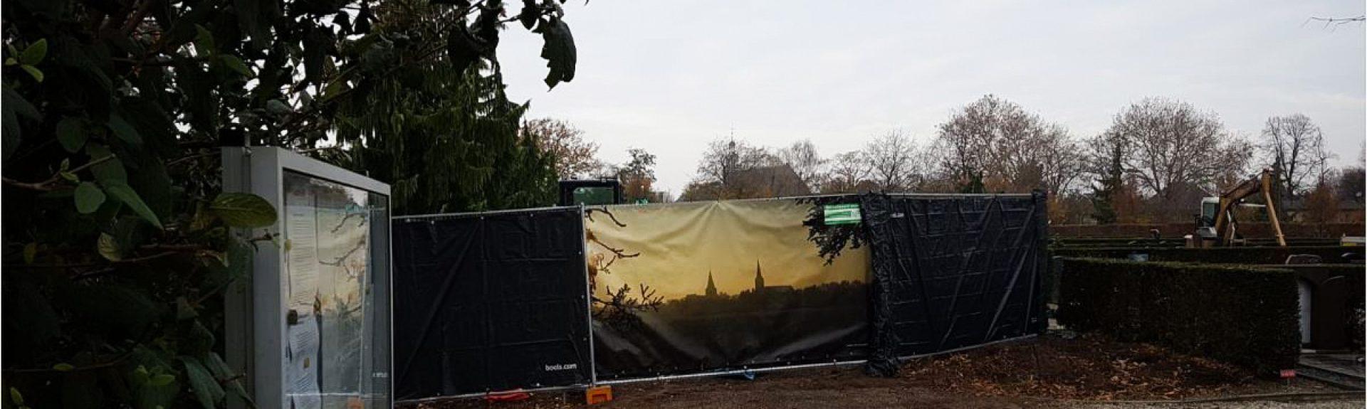 Begraafplaats schermen
