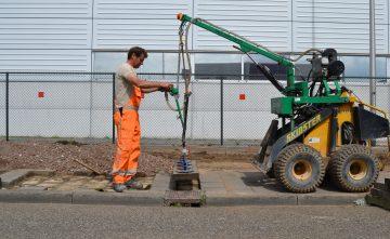 Uitbreiding 1100m2 parkeerterrein sorteercentrum – Den Bosch